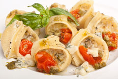 Stuffed Pesto Pasta Shells Stock Photography