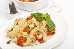 Stuffed Pesto Pasta Shells Stock Photo