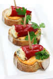 Stuffed piquillo peppers, spanish pinchos Stock Image