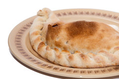 Stuffed pirogue on a plate Royalty Free Stock Image