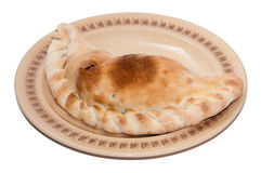 Stuffed pirogue on a plate Royalty Free Stock Photo