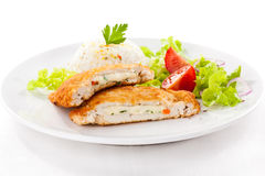 Stuffed pork chops Royalty Free Stock Photos