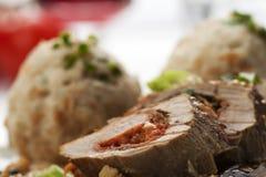 Stuffed pork fillet Stock Photos
