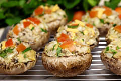 Stuffed Portabella Mushrooms Royalty Free Stock Images