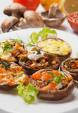 Stuffed portabello mushrooms Royalty Free Stock Photography