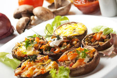 Stuffed portabello mushrooms Stock Photography