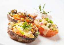 Stuffed portabello mushrooms Royalty Free Stock Photos
