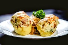 Stuffed potato dish Royalty Free Stock Photo