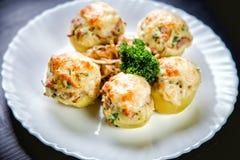 Stuffed potato dish Royalty Free Stock Photography