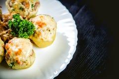 Stuffed potato dish Royalty Free Stock Images