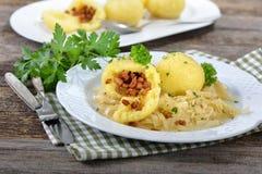Stuffed potato dumplings Royalty Free Stock Photos