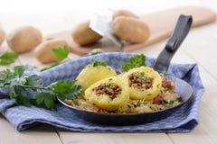Stuffed potato dumplings stock photography