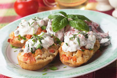 Stuffed potato Royalty Free Stock Images