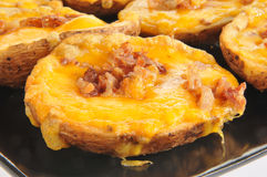 Stuffed potato skins Stock Photo