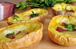 Stuffed potato skins Royalty Free Stock Images