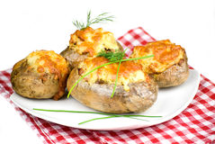 Stuffed potatoes Royalty Free Stock Photography