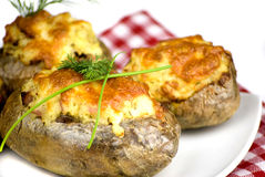 Stuffed potatoes Royalty Free Stock Photo
