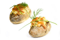 Stuffed potatoes Stock Photo