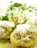 Stuffed potatoes Stock Images