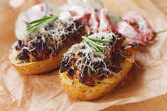 Stuffed potatoes Royalty Free Stock Images