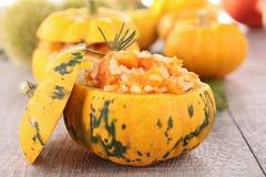 Stuffed pumpkin stock images