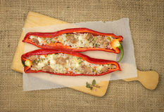 Stuffed Ramiro pepper with fish Royalty Free Stock Images