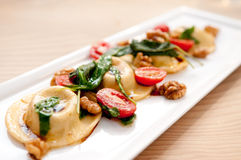 Stuffed ravioli Royalty Free Stock Photo