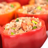 Stuffed Red Bell Pepper Royalty Free Stock Photos