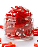 Stuffed red licorice bars Stock Photo