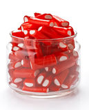 Stuffed red licorice bars Stock Photos