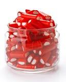Stuffed red licorice bars Stock Photos