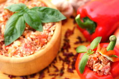 Stuffed red pepper Stock Photography