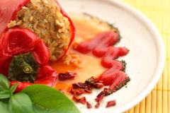 Stuffed red pepper Royalty Free Stock Photos