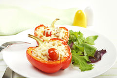 Stuffed Red Pepper Stock Photo