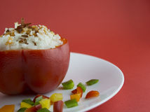 Stuffed red pepper Stock Photos