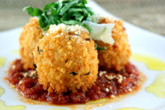 Stuffed Risotto Balls Royalty Free Stock Images