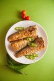 Stuffed rockcod. Fried shad with chilli, australian fish Royalty Free Stock Photography