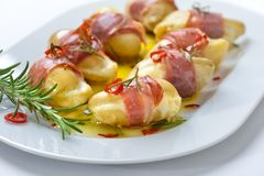 Stuffed rosemary potatoes Stock Images