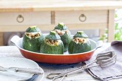 Stuffed round zucchini Royalty Free Stock Image