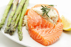 Stuffed salmon Royalty Free Stock Images