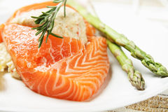 Stuffed salmon Stock Image