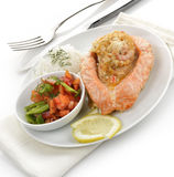 Stuffed Salmon Stock Photography