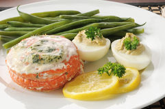 Stuffed salmon closeup Royalty Free Stock Photo