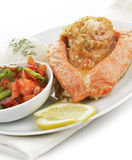 Stuffed Salmon Plate Stock Photo