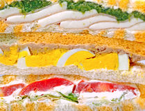 Stuffed sandwich background Stock Photos
