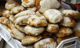 Stuffed sandwich chorizo. Stuffed sausage sandwich in restaurant, fast and insane food royalty free stock photos