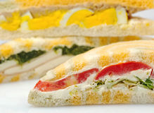 Stuffed sandwiches Royalty Free Stock Photography