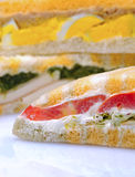 Stuffed sandwiches. Clsoeup stuffed sandwiches  with fresh ingredients Stock Photo