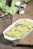 Stuffed savoy cabbage with meat Stock Image
