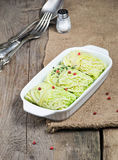 Stuffed savoy cabbage with meat Royalty Free Stock Photography